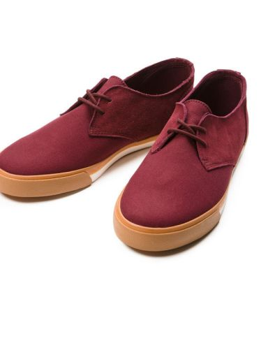 Zapato Chester Canvas Burgundy Pointer