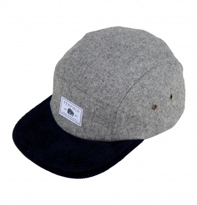 Penfield_Casper_5_Panel_Cap_Grey_Navy gorra chico