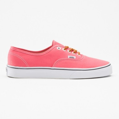 VANS AUTHENTIC SHOES (Brushed Twill) Salmon:True white